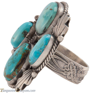 Navajo Native American Crescent Valley Turquoise Ring Size 8 1/4 SKU227430