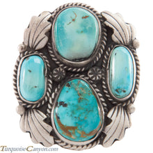 Load image into Gallery viewer, Navajo Native American Crescent Valley Turquoise Ring Size 8 1/4 SKU227430