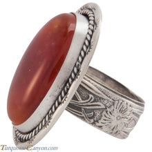Load image into Gallery viewer, Navajo Native American Tangerine Chalcedony Ring Size 5 1/4 SKU227438