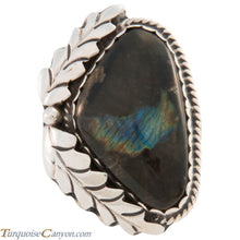 Load image into Gallery viewer, Navajo Native American Spectrolite Ring Size 7 by Martha Willeto SKU227457