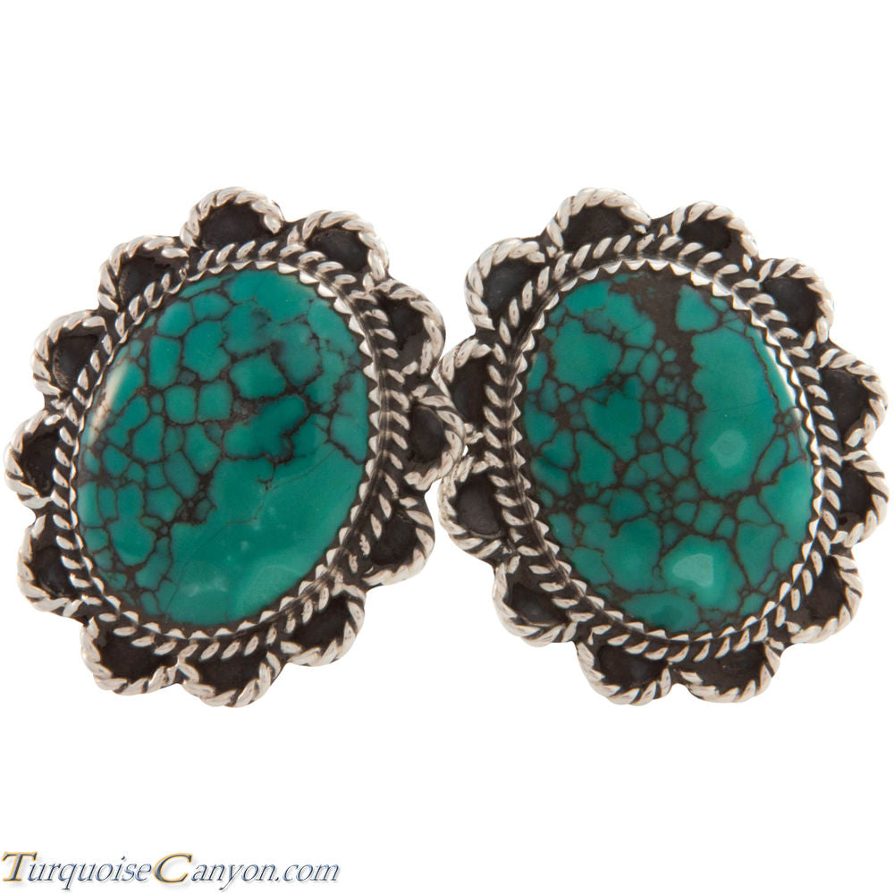 Navajo Native American Cloud Mountain Turquoise Clip On Earrings SKU227467