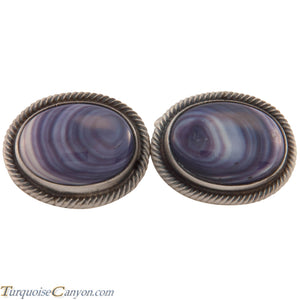 Navajo Native American Wampum Shell Cuff Links by Richard Jim SKU227504