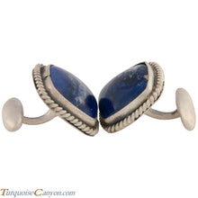 Load image into Gallery viewer, Navajo Native American Lapis Cuff Links by Richard Jim SKU227507