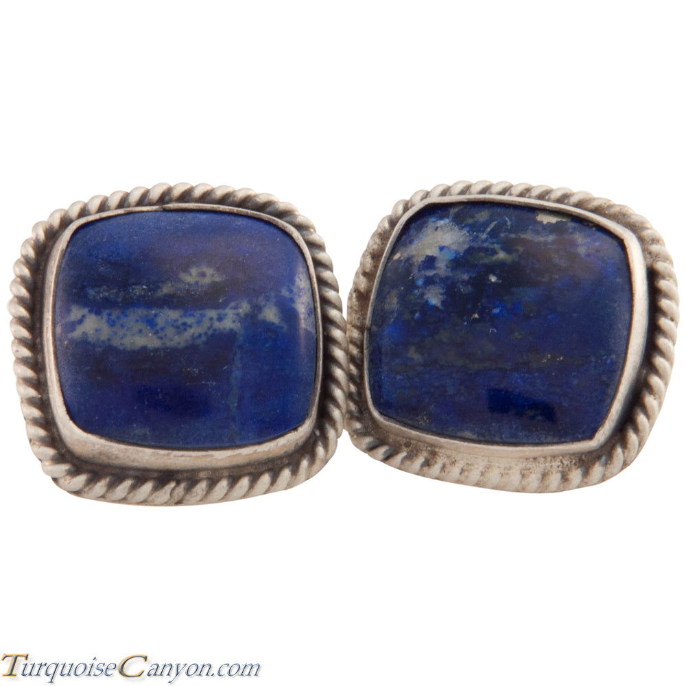 Navajo Native American Lapis Cuff Links by Richard Jim SKU227507
