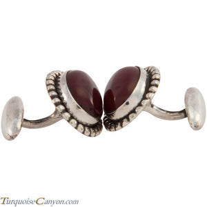 Navajo Native American Carnelian Cuff Links by Martha Willeto SKU227510