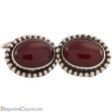 Load image into Gallery viewer, Navajo Native American Carnelian Cuff Links by Martha Willeto SKU227510