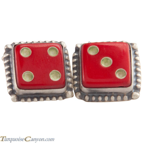 Navajo Native American Vintage Bakelite Dice Cuff Links by Willeto SKU227515