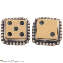 Load image into Gallery viewer, Navajo Native American Vintage Bakelite Dice Cuff Links by Willeto SKU227516