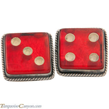 Load image into Gallery viewer, Navajo Native American Vintage Lucite Dice Cuff Links by Willeto SKU227517