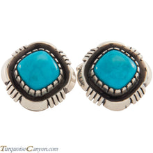 Load image into Gallery viewer, Navajo Native American Sleeping Beauty Turquoise Cuff Links SKU227521
