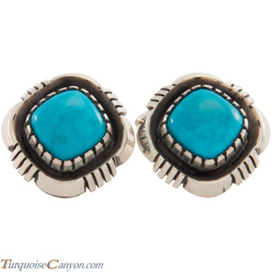 Navajo Native American Sleeping Beauty Turquoise Cuff Links SKU227521