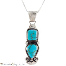Load image into Gallery viewer, Navajo Native American Blue Gem Turquoise Pendant Necklace SKU227533