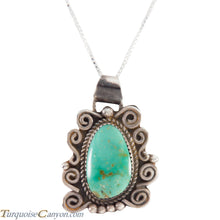 Load image into Gallery viewer, Navajo Native American Carico Lake Turquoise Pendant Necklace SKU227582