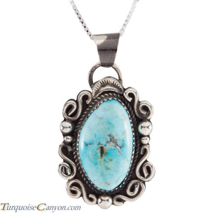 Native American Blue Moon Turquoise Pendant Necklace by Billie SKU227583