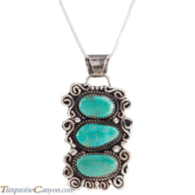 Load image into Gallery viewer, Navajo Native American Carico Lake Turquoise Pendant Necklace SKU227590