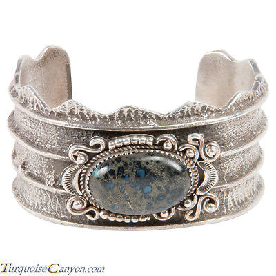 Navajo Native American New Landers Turquoise Tufa Bracelet by Billie SKU227596