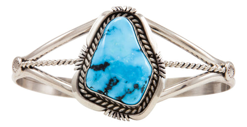 Navajo Native American Sleeping Beauty Turquoise Bracelet by Belone SKU227635