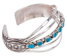 Load image into Gallery viewer, Sleeping Beauty Turquoise Navajo Native American Bracelet SKU227645