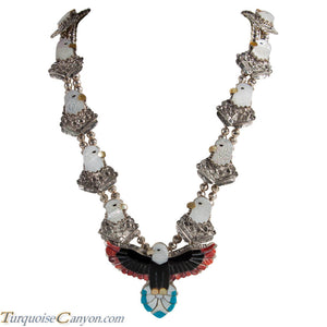 Zuni Native American Eagle Inlay Necklace by Kendell Shebola SKU227673