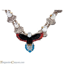 Load image into Gallery viewer, Zuni Native American Eagle Inlay Necklace by Kendell Shebola SKU227673