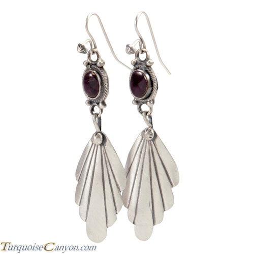 Navajo Native American Purple Spiny Oyster Shell Earrings by Jim SKU227689
