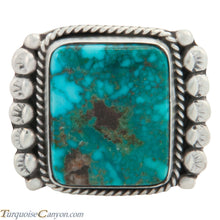 Load image into Gallery viewer, Navajo Native American Kingman Turquoise Ring Size 9 1/4 by Willeto SKU227695