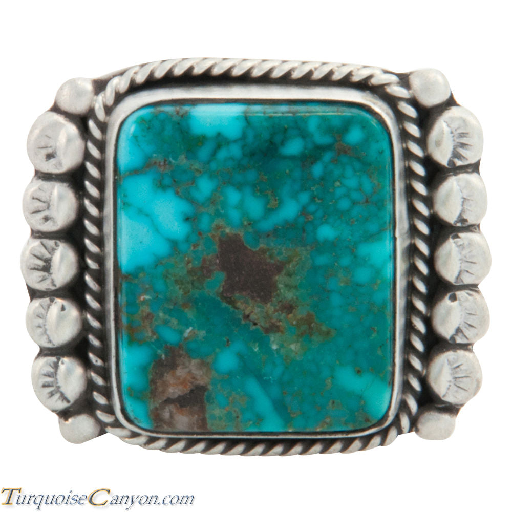 Navajo Native American Kingman Turquoise Ring Size 9 1/4 by Willeto SKU227695