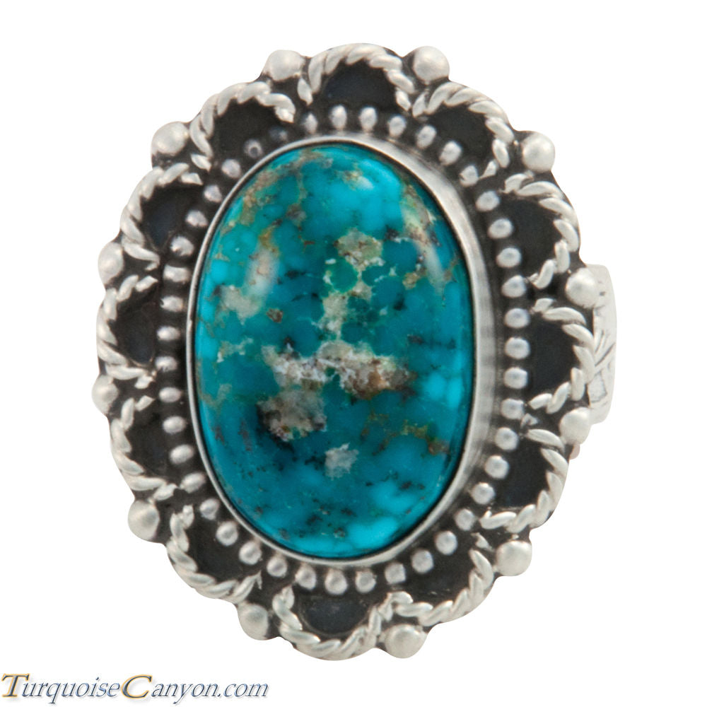 Navajo Native American Kingman Turquoise Ring Size 9 by Willeto SKU227696