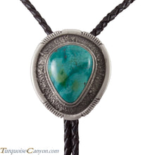 Load image into Gallery viewer, Navajo Native American Kingman Turquoise Bolo Tie by Richard Jim SKU227708