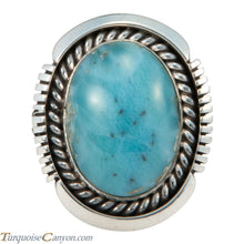 Load image into Gallery viewer, Navajo Native American Larimar Ring Size 7 3/4 by Belone SKU227733