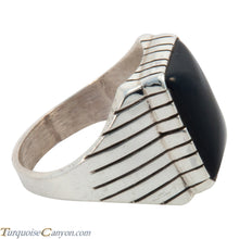 Load image into Gallery viewer, Navajo Native American Onyx Ring Size 13 by Ray Jack SKU227755