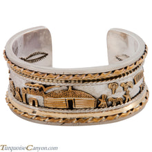 Load image into Gallery viewer, Navajo Native American Gold and Silver Story Teller Bracelet SKU227788