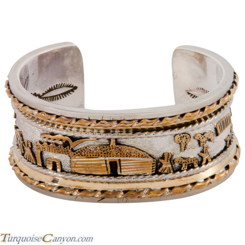 Navajo Native American Gold and Silver Story Teller Bracelet SKU227788