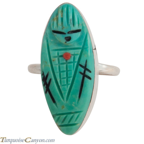Zuni Native American Turquoise Corn Maiden Ring Size 6 1/4 SKU227836