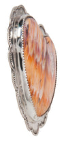 Load image into Gallery viewer, Santo Domingo Orange Shell Heart Pin Pendant by James & Doris Coriz SKU227877