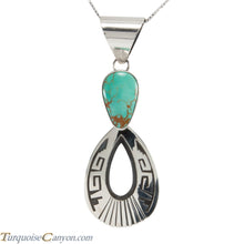 Load image into Gallery viewer, Navajo Native American Royston Turquoise Pendant Necklace by Teller SKU227890