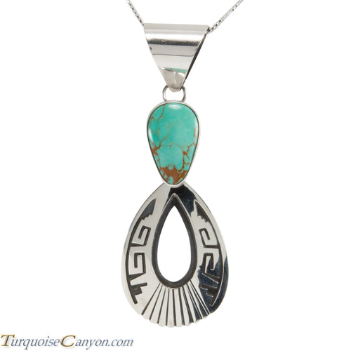 Navajo Native American Royston Turquoise Pendant Necklace by Teller SKU227890