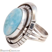 Load image into Gallery viewer, Navajo Native American Larimar Ring Size 7 3/4 by Betta Lee SKU227919