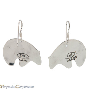 Navajo Native American Sterling Silver Bear Earrings by Teller SKU227935