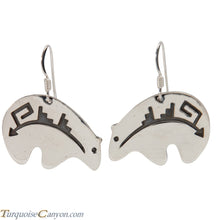 Load image into Gallery viewer, Navajo Native American Sterling Silver Bear Earrings by Teller SKU227935