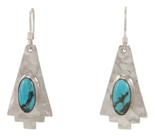 Load image into Gallery viewer, Navajo Native American Turquoise and Sterling Silver Earrings SKU227947