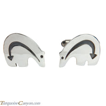 Load image into Gallery viewer, Navajo Native American Sterling Silver Bear Cuff Links by Teller SKU227979