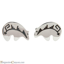 Load image into Gallery viewer, Navajo Native American Sterling Silver Bear Cuff Links by Teller SKU227980