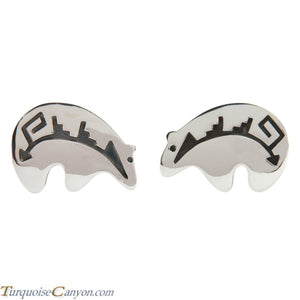 Navajo Native American Sterling Silver Bear Cuff Links by Teller SKU227980