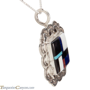 Santo Domingo Shell and Turquoise Pendant Necklace by Atencio SKU227982