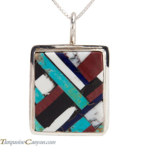 Santo Domingo Turquoise Pendant Necklace by Lita Atencio SKU227983