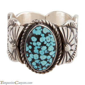 Navajo Native American Kingman Turquoise Ring Size 13 1/2 by Morgan SKU228013