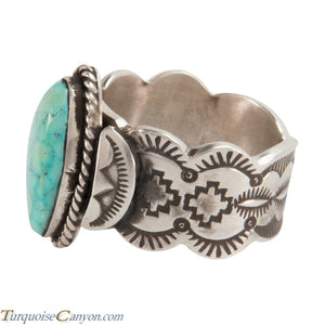 Navajo Native American Kingman Turquoise Ring Size 13 3/4 by Morgan SKU228018