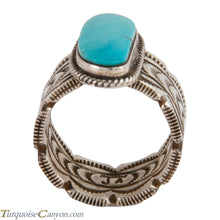 Load image into Gallery viewer, Navajo Native American Sleeping Beauty Turquoise Ring Size 12 1/2 SKU228022