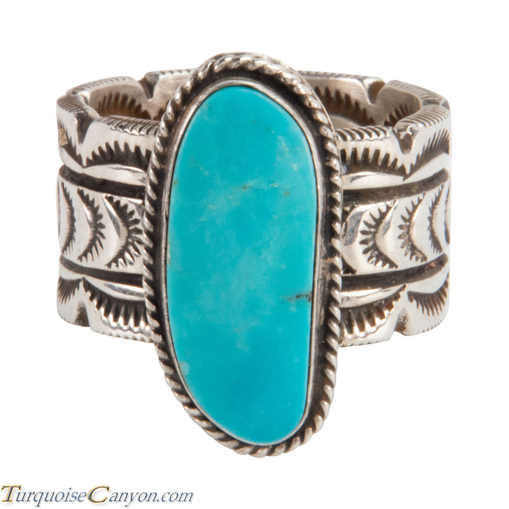 Navajo Native American Sleeping Beauty Turquoise Ring Size 12 1/2 SKU228022